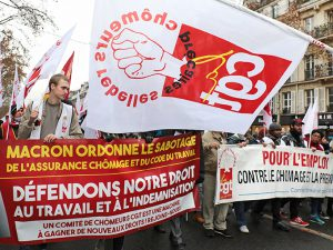 Manifestation des chômeurs et précaires à l'appel de la CGT sur fond de colère sociale