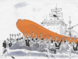 «À bord de l'Aquarius» bédéreportage documenté et indispensable