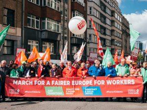 Euro-manifestation syndicale à Bruxelles