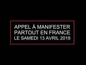 Samedi 13 avril, tous dans la rue pour défendre la liberté de manifester