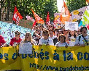 Manifestation unitaire et grève nationale dans les crèches