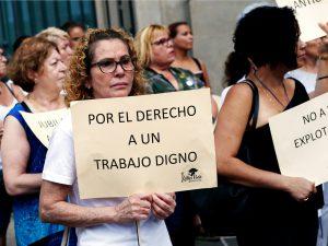 Espagne: femmes de chambre en colère