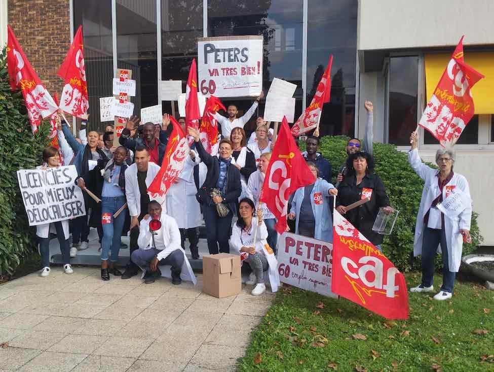 Péters Surgical en grève contre les licenciements boursiers