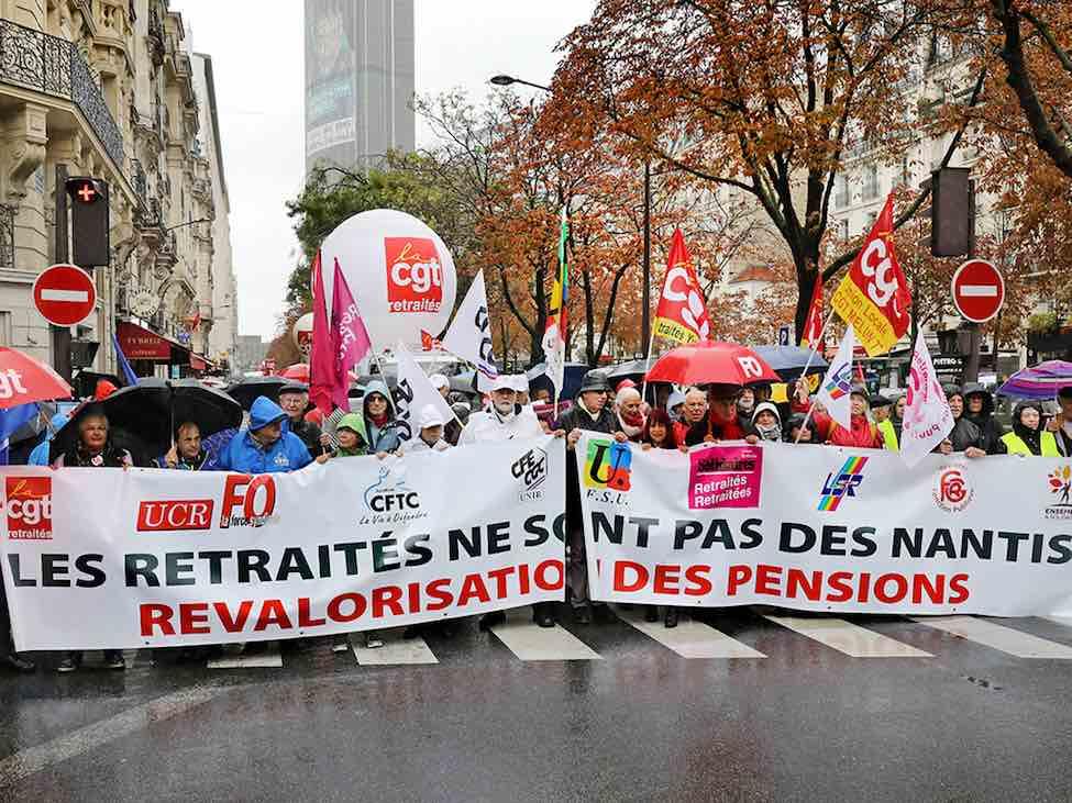 Nouvelle manifestation des retraités pour une hausse générale des pensions