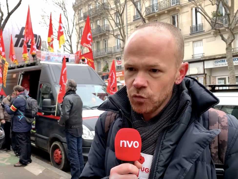 Vincent Gautheron, syndicaliste CGT RATP, est venu manifester ce 5 décembre.