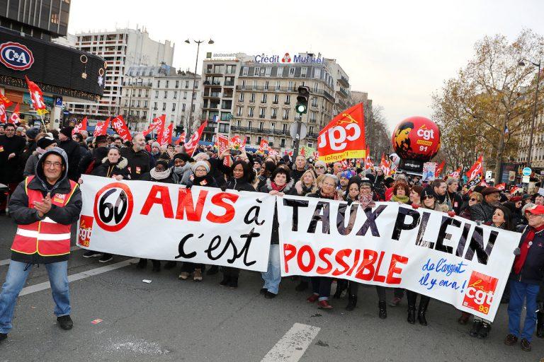 Images des manifestations contre la réforme des retraites