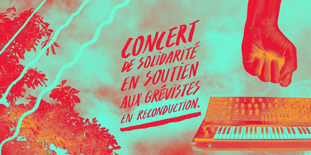 Paris : concert de solidarité avec les salariés en grève reconductible