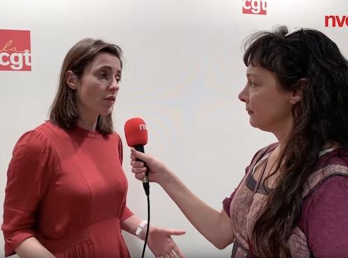Sophie Binet, cosecrétaire de l'Ugict CGT