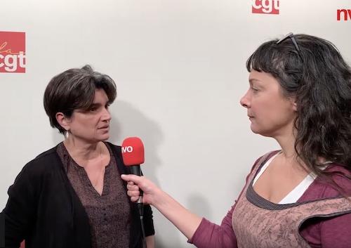 Natacha Pommet, secrétaire générale de la Fédération CGT des Services publics