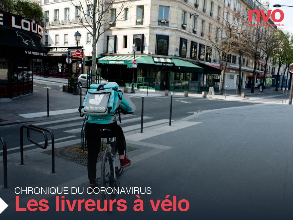 Chroniques du coronavirus : des livreurs à vélo menacés et… menaçants