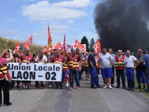 La CGT Aisne interpelle Macron à l'occasion de son déplacement mémoriel