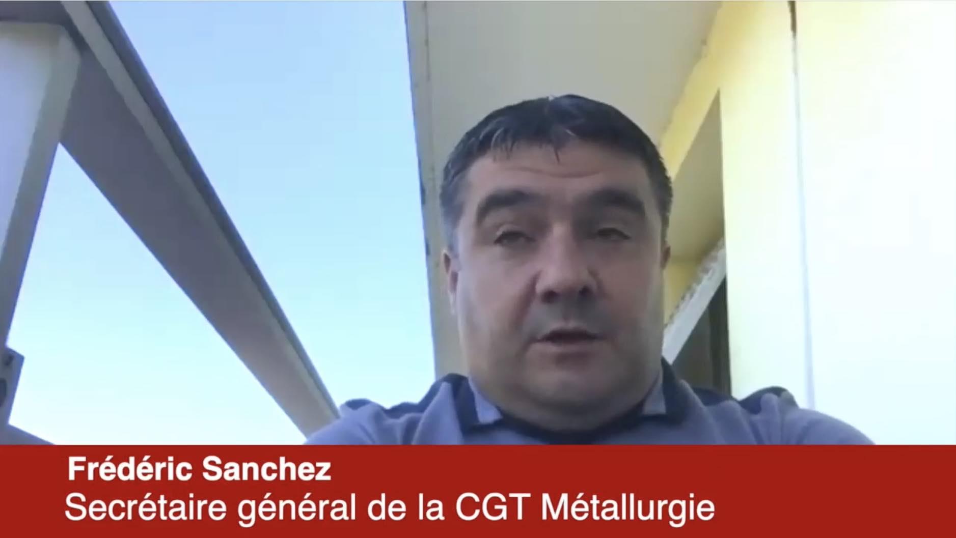 Plan pour l'automobile : réaction de Frédéric Sanchez CGT Métallurgie