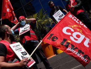Rassemblement CGT pour l'emploi et l'activité de Presstalis