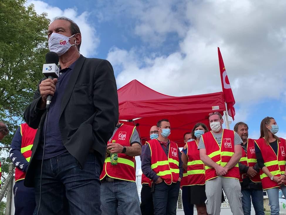 Philippe Martinez en visite dans le Jura : face à la désindustrialisation, l'État a baissé les bras