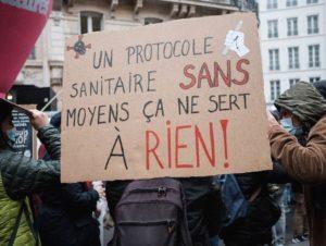 Grève des enseignants pour un vrai protocole sanitaire en primaire et collège