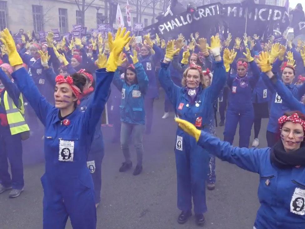 Vidéo - 8 mars : Grève féministe et manifestations des « premières de corvées » de la crise