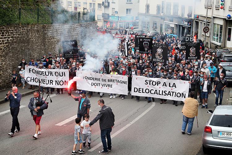 Fonderie de Bretagne : entre 1 200 et 2 000 manifestants près de Lorient