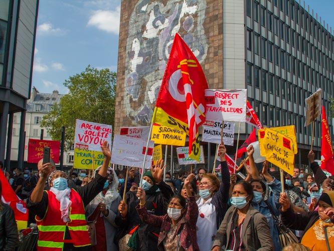 Grève du nettoyage à la faculté de Jussieu
